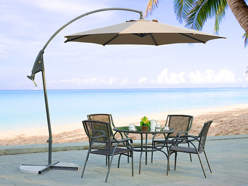 outdoor cantilever umbrella for patio and garden