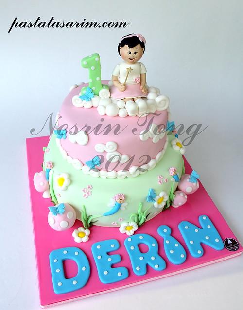 1st birthday cake - derin