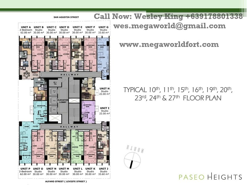 Paseo Heights Floorplan 10th floor