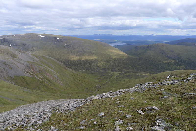 Looking across the Uisge Labhair to Ben Alder