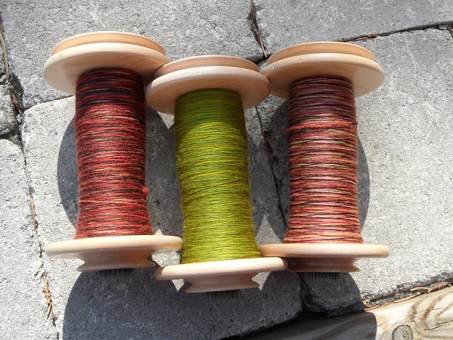 FCK Old Rose & Leaf Eater on Falkland-6oz-for 3-ply sock yarn