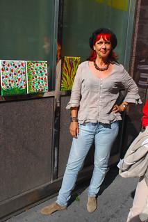 Peggy am Annenviertel-Flohmarkt