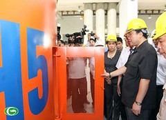 Phó thủ tướng Hoàng Trung Hải chứng kiến sự kiện vận hành Tổ máy số 5 tại công trường thủy điện Sơn La