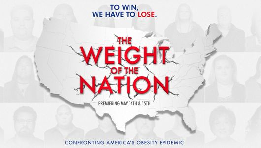 promo image for weight of the nation depicting a map of the US with the words TO WIN, WE HAVE TO LOSE above it