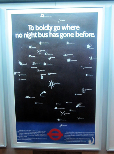 To Boldly Go - Night Bus Poster - Mind the Map