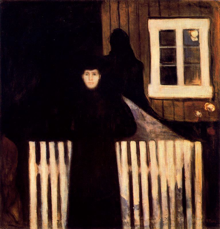 Munch, Edvard (1863-1944) - 1893 Moonlight (The National Gallery, Oslo, Norway)