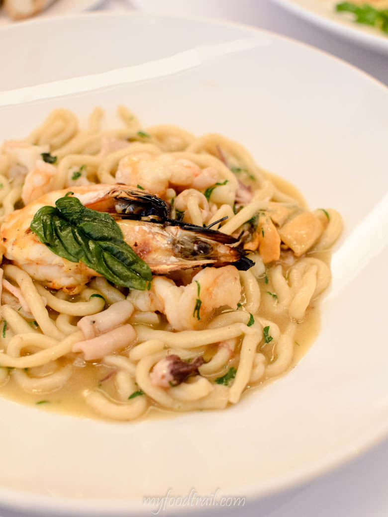 Bottega - House Made Strozzapreti with Clams, Mussels, Prawns & Calamari