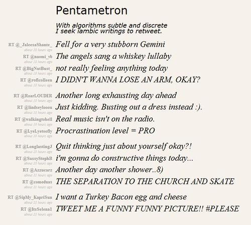 Pentametron sonnet