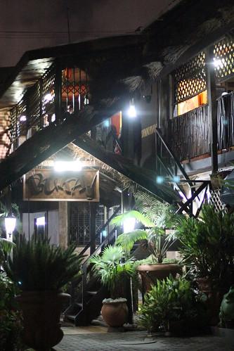 Outside Buka at night