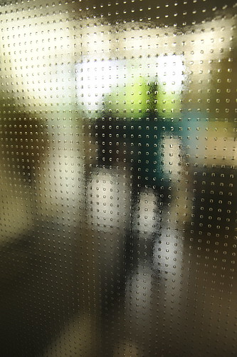 Open door, glass, figures, Nike Company store, Beaverton, Oregon, USA by Wonderlane