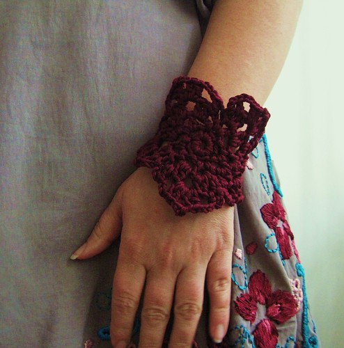 Byzantine purple bracelet