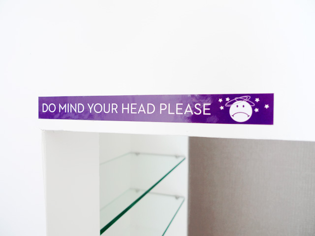 please mind your head lol