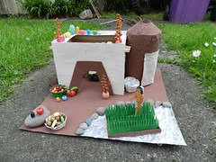 H's finished Aztec house project