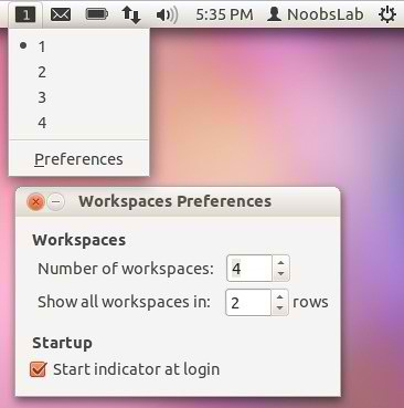 ubuntu workspaces