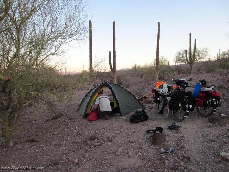 Wild campsite, off Hwy 1 toward Loreto