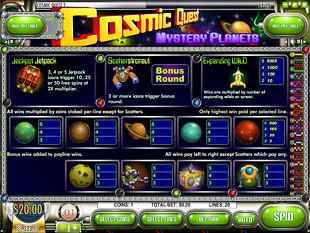 Cosmic Quest Episode Two Slots Payout