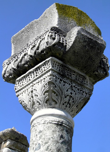 Detail of the capitals of the Basilica B, Philippi