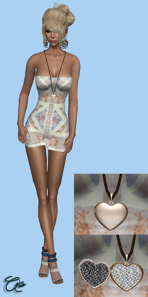 Sleeping Koala - Dress and je suis - l'amour long necklace