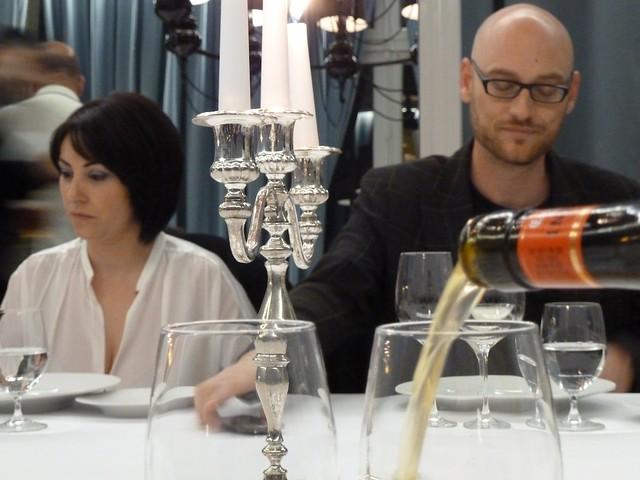 @gastrogolfa y @elcocinerofiel  en la cena en Terraza del Casino de Madrid