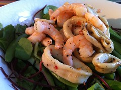 King prawn and calamari salad
