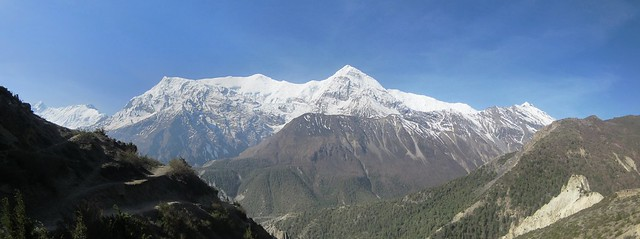 Gangapurna from above Manang