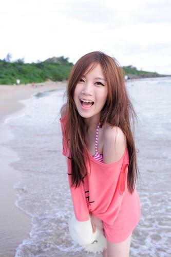 無料写真素材|人物|女性アジア|笑顔・スマイル|人物海|台湾人