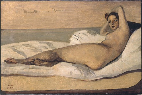 Camille Corot - Marietta, the Roman Odalisque by Gandalf's Gallery