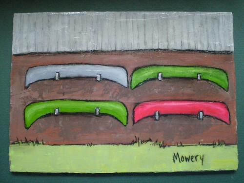 Boat house, acrylic, Barbara Mowery 2012