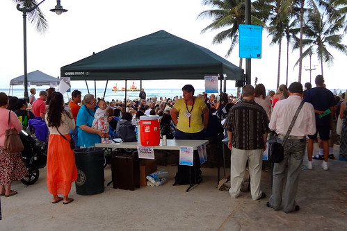 Refreshments Table at the Easter Sunrise Service