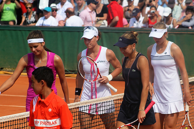 Goerges, Stosur, Vesnina and Makarova