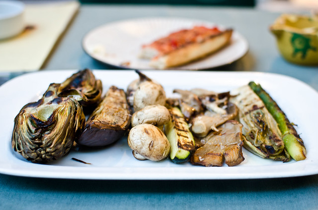 Grilled vegetables at Mussol in Barcelona.