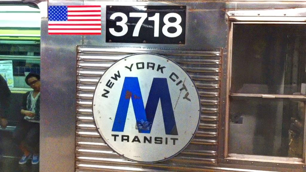 "Columbus Auto Show >> Old MTA Logo on the C Train - ""The Big M"" - a photo on ..."
