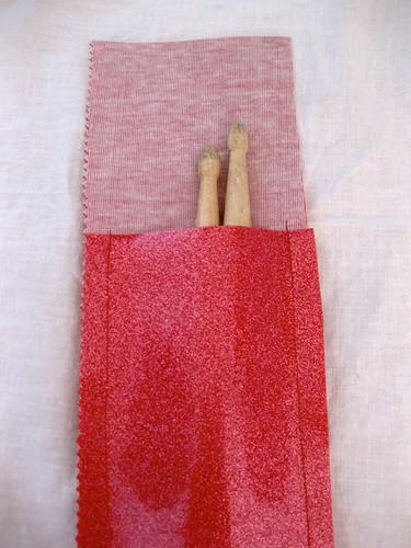 Red glitter holder