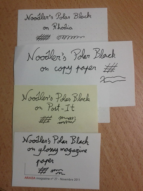 Water test : Noodler's Polar Black 1/3