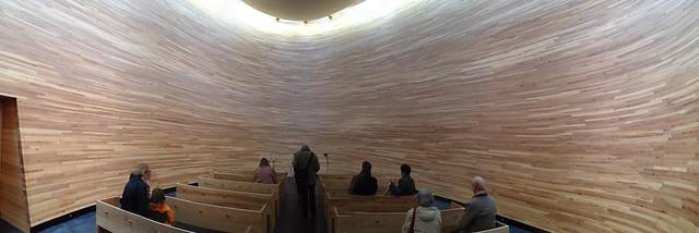 La capilla del silencio por dentro.