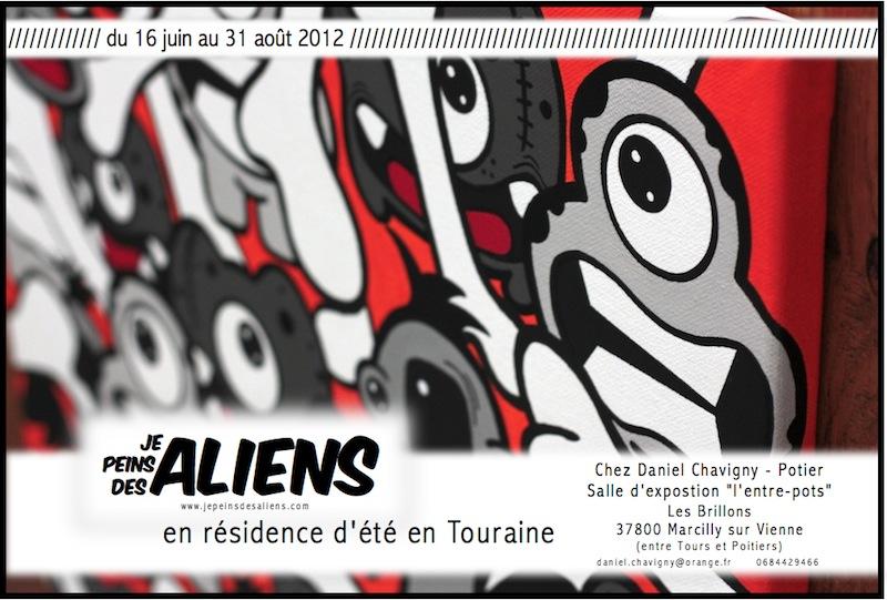 Je Peins Des Aliens en résidence d'été en Touraine