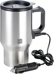 12V stainless steel in-car heated mug