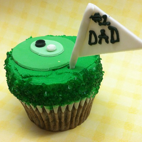 Golf cupcake for Father's Day