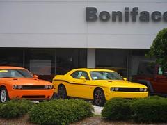 stock car racing(0.0), automobile(1.0), automotive exterior(1.0), vehicle(1.0), performance car(1.0), automotive design(1.0), dodge challenger(1.0), bumper(1.0), classic car(1.0), land vehicle(1.0), muscle car(1.0), sports car(1.0),