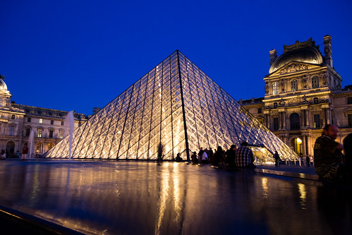 Nighttime at the Louvre