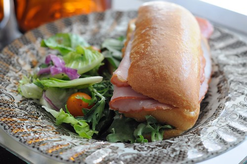 Ham Brioche Sandwich with Salad at Carpenter and Cook