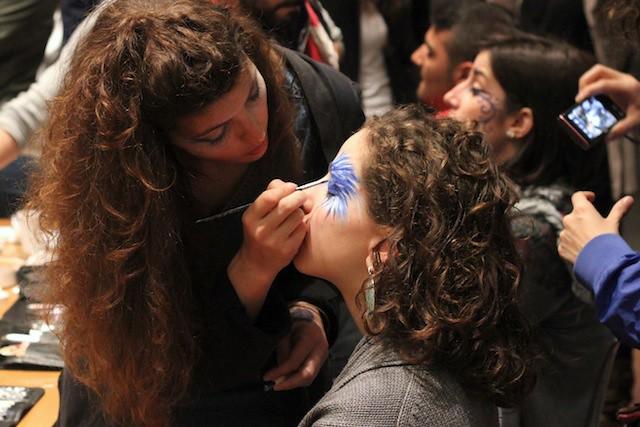 Makeup artists at work