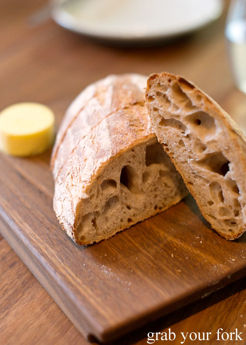 Housemade sourdough at Sixpenny Stanmore