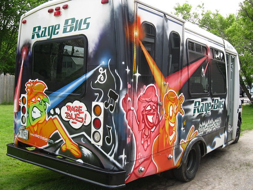 http://www.mikerichdesign.com/   The RAGE Bus by Muy Rico