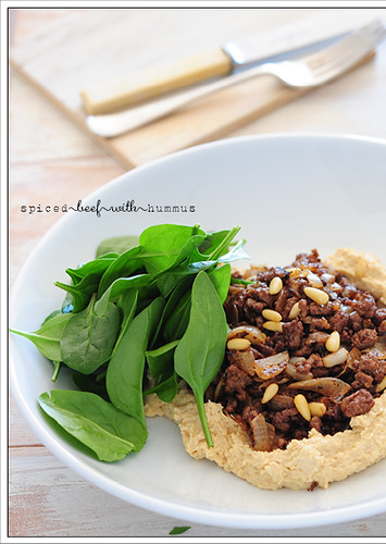 spiced beef with hummus2