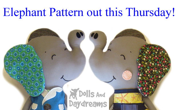 dolls and daydreams elephant sewing pattern  copy