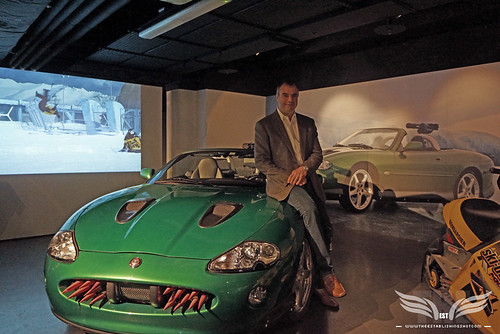 The Establishing Shot BOND IN MOTION - BOND SPECIAL EFFECTS SUPERVISOR CHRIS CORBOULD & JAGUAR XKR FROM DIE ANOTHER DAY @ LONDON FILM MUSEUM COVENT GARDEN by Craig Grobler
