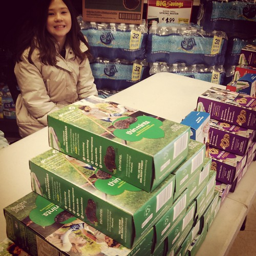 Girl Scout Cookies, Girl Scouts, cookie booths, thin mints