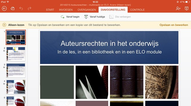 microsoft office voor ipad powerpoint