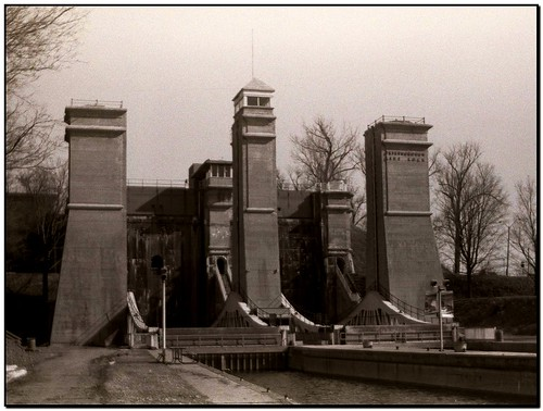 Peterborough Lift Lock and an Old Kodak